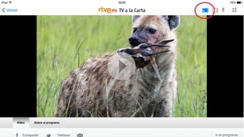 La app de RTVE para iPad añade soporte para Chromecast.