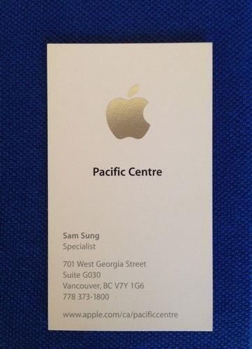 Sam Sung, empleado de Apple