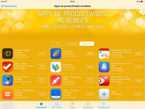 Descuentos apps productividad