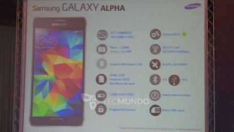 Se filtra la caja del Samsung Galaxy Alpha, con las especificaciones finales.