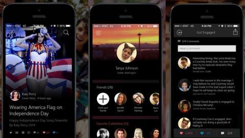 Snipp3t, la app de Microsoft para iPhone que te permite seguir a los famosos.