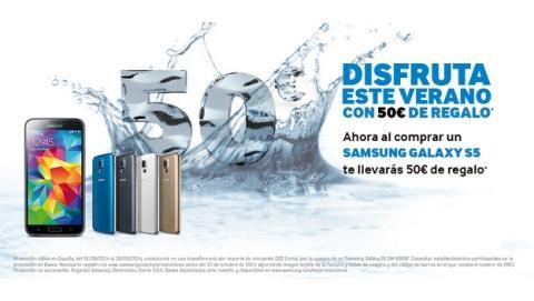 Samsung ha puesto en marcha una promoción en la que te devuelve 50€ si compras un Samsung Galaxy S5.