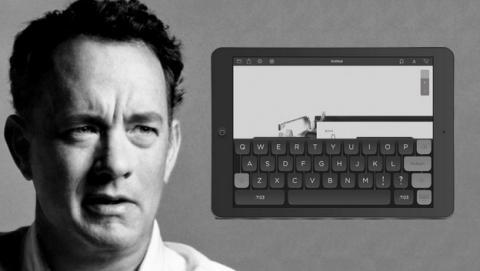 Hanx Writer, la app de Tom Hanks, un procesador de textos para iPad que simula ser una máquina de escribir.