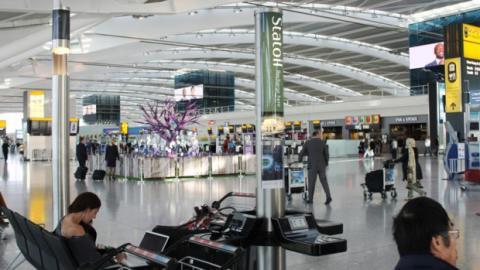 estación de carga aeropuerto
