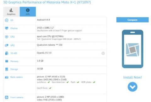 Moto X+1 benchmark
