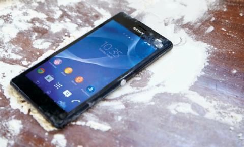 Sony Xperia M2 Aqua resistente al polvo