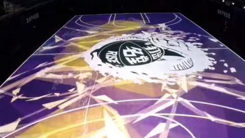 Nike crea una increíble pista de baloncesto cubierta de LEDs
