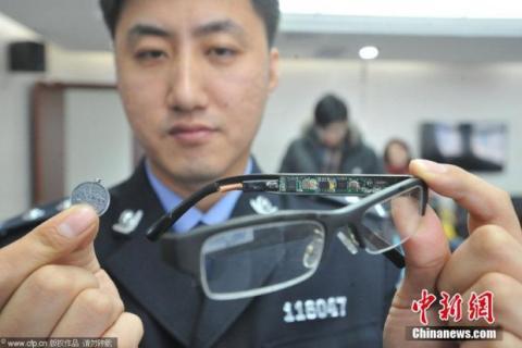 Gafas para copiar en los exámenes