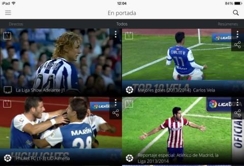 Llega La Liga TV, la app oficial para ver la liga de fútbol con resúmenes de los partidos, todos los goles, reportajes, y partidos de la liga Adelante en directo. Compatible con Chromecast