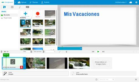 Añade vídeos o fotos al proyecto