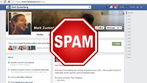 spam facebook