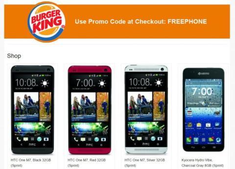 Promoción Burger King smartphone gratis