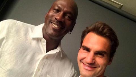 Federer y Jordan: el mejor selfie de la historia del deporte