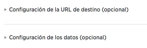 Configuración de los datos de la tarjeta de Twitter