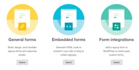 Sign up forms Mailchimp