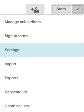 Configuración de lista
