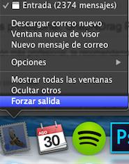 Forzar salida de una aplicación en Mac