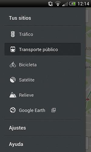 Ajustes de Google Maps