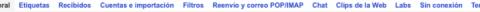 Menú de configuración de Gmail