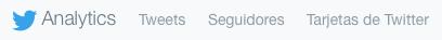 Menú de Twitter Analytics