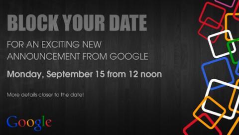 Google manda invitaciones para el 15 de septiembre en India