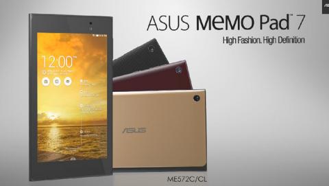 ASUS MeMO Pad 7, tablet de 7 pulgadas de 64 bits en IFA 2014.