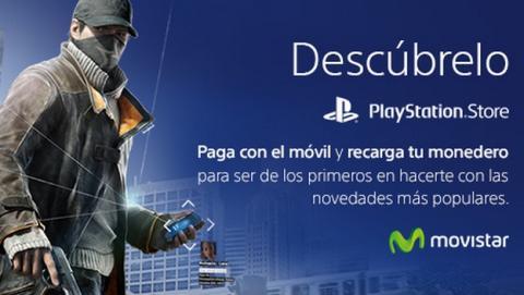 Paga tus compras de PlayStation con tu móvil Movistar