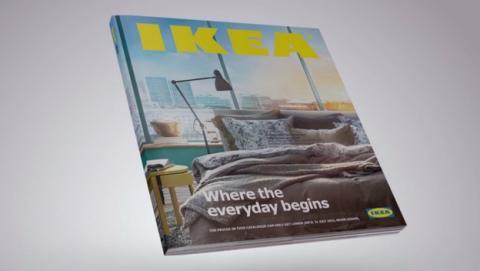 IKEA bromea con el iPad de Apple en su anuncio del catálogo de IKEA 2015.