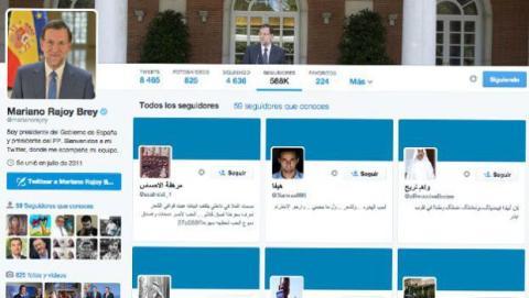 Mariano Rajoy y los seguidores falsos en Twitter