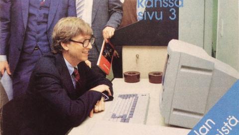 Hace 30 años, un joven Bill Gates probaba los ordenadores de Nokia