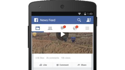 Facebook incluye contador de visitas en sus vídeos