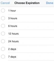 Usuarios elegirán entre 1 hora y 7 días
