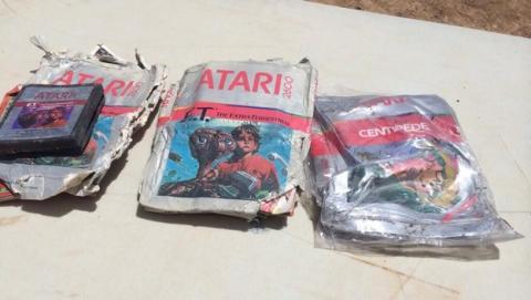 Planean subastar juegos de ET desenterrados en Nuevo México