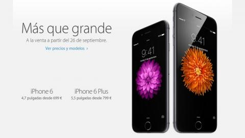 iPhone 6 y iPhone 6 Plus: Precios oficiales y fecha de lanzamiento en España.