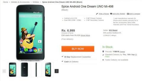 Spice Dream UNO con Android One