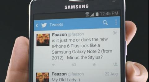 Samsung Galaxy Note 4 se mofa del iPhone 6