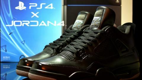 Crean unos sneakers, unas zapatillas deportivas Air Jordan PS4 tuneadas, con puerto HDMI.