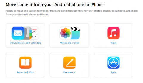 Apple crea una guía para usuarios Android que se pasan a iOS
