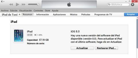 Actualizar iOS 8