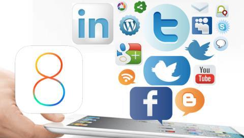 ios 8 redes sociales