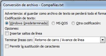 Conversión de archivo