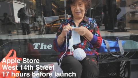 Mafias chinas copan las colas para comprar iPhone 6 (vídeo).