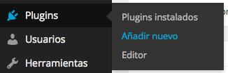 Añadir un nuevo plugin
