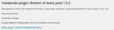 Instalación plugin en Wordpress