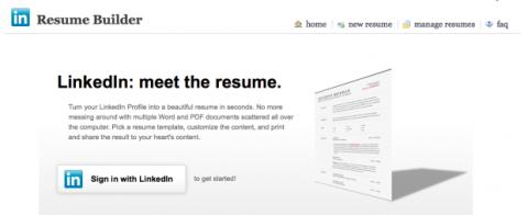 Resume Builder LinkedIn