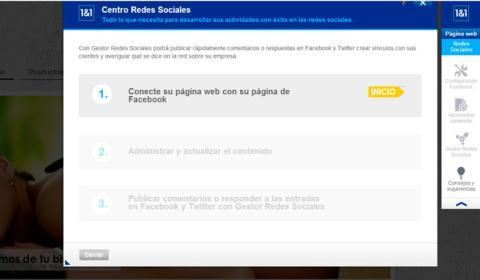 Despliega el panel de herramientas para redes sociales