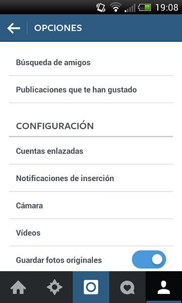 Configuración de vídeos en Instagram