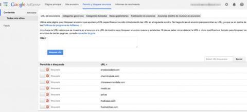 Bloquear anuncios en Google AdSense