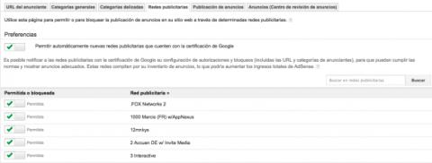 Redes publicitarias en Google AdSense