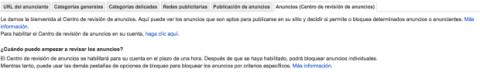 Centro de revisión de anuncios de Google AdSense